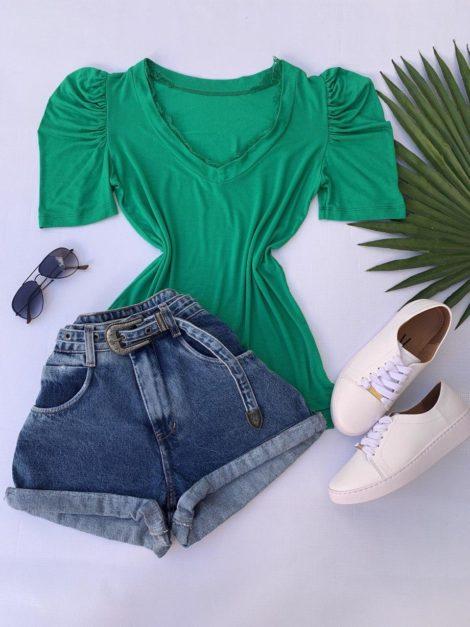 semigualmodas_com_br blusa detalhe em renda verde