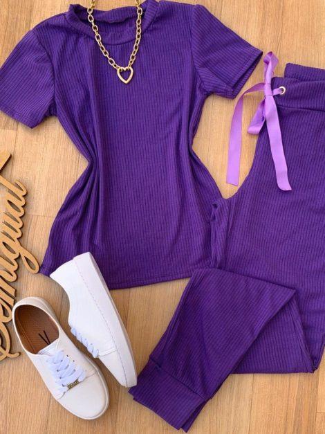 semigualmodas_com_br conjunto calca e blusa canelado