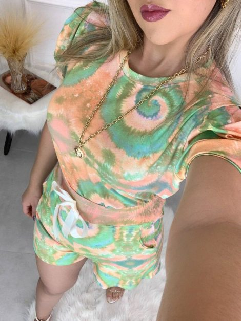 semigualmodas_com_br conjunto short e blusa tie dye