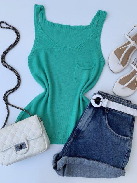 semigualmodas_com_br blusa regata tricot verde