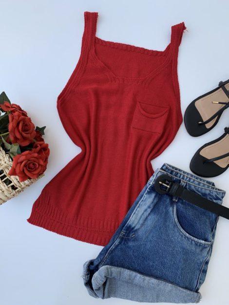 semigualmodas_com_br blusa regata tricot vermelha