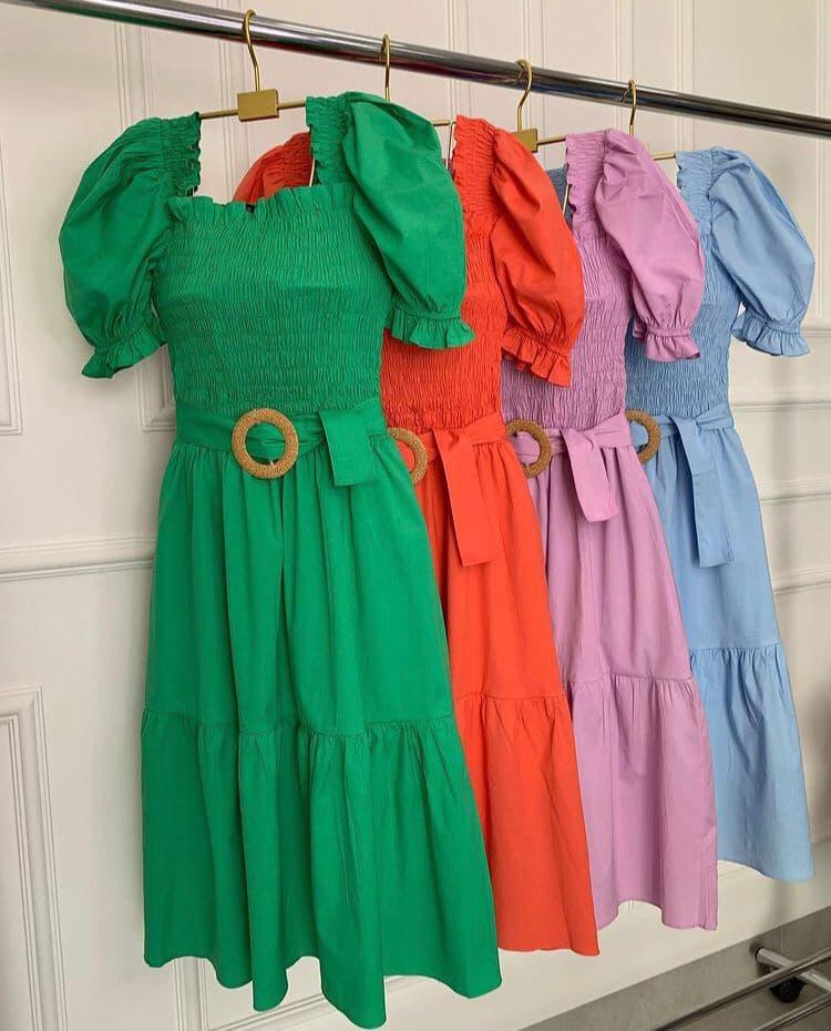 semigualmodas_com_br vestido lastex liso com cinto