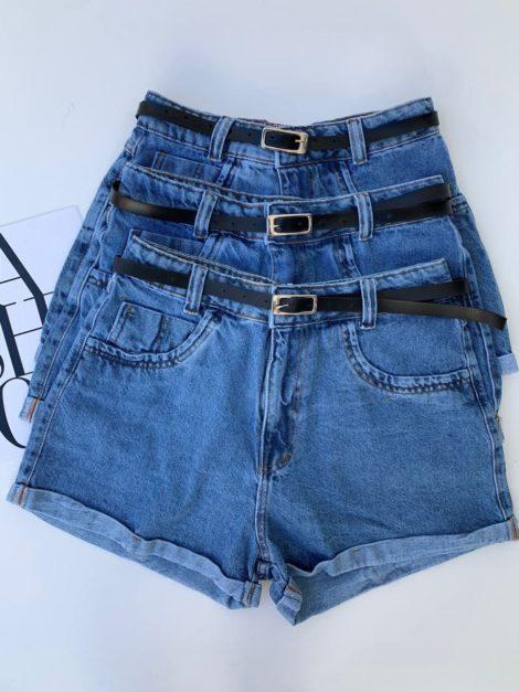 semigualmodas_com_br short jeans cinto preto