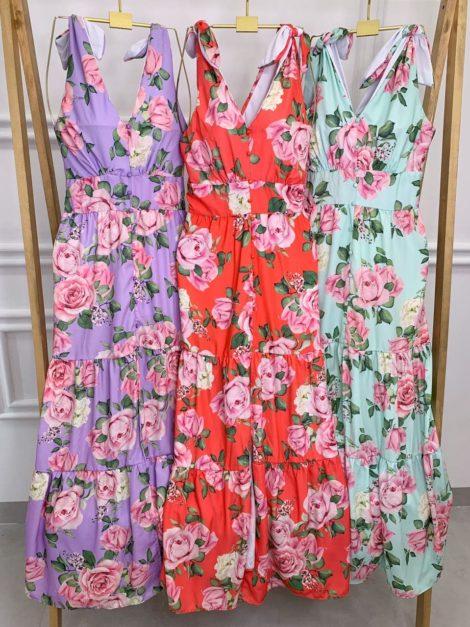 semigualmodas_com_br vestido longo floratta detalhe botoes