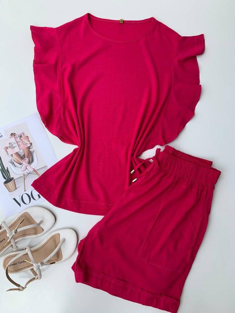 semigualmodas_com_br conjunto short e blusa viscolinho