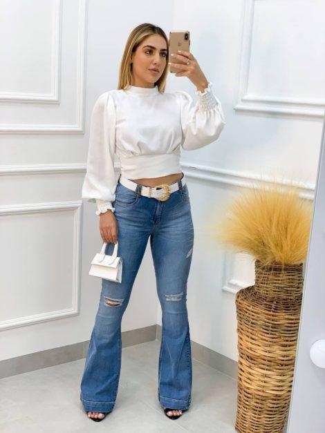 semigualmodas_com_br blusa camisa manga longa branco p