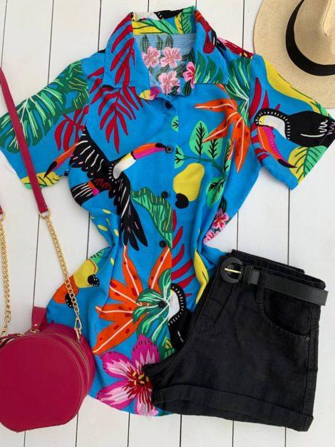 semigualmodas_com_br camisa tropical azul