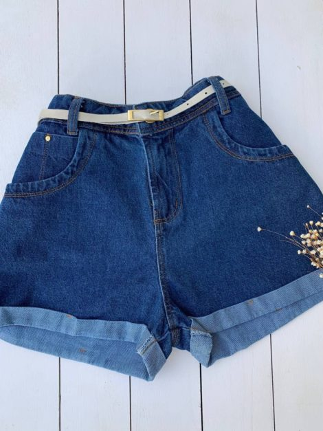 semigualmodas_com_br short jeans cinto branco
