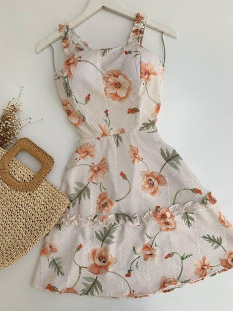 semigualmodas_com_br vestido flowers laranja com bojo
