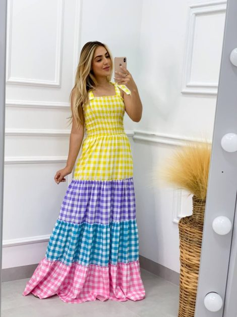 semigualmodas_com_br vestido longo colors lastex