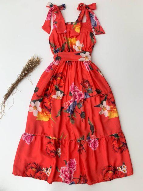 semigualmodas_com_br vestido midi floratta laranja