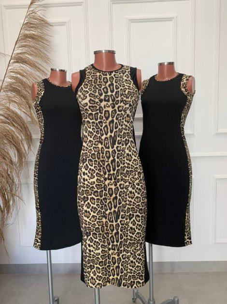 semigualmodas_com_br vestido canelado animal print