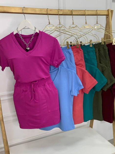 semigualmodas_com_br conjunto short saia e blusa comfy