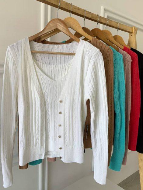 semigualmodas_com_br conjunto tricot casaco e blusa