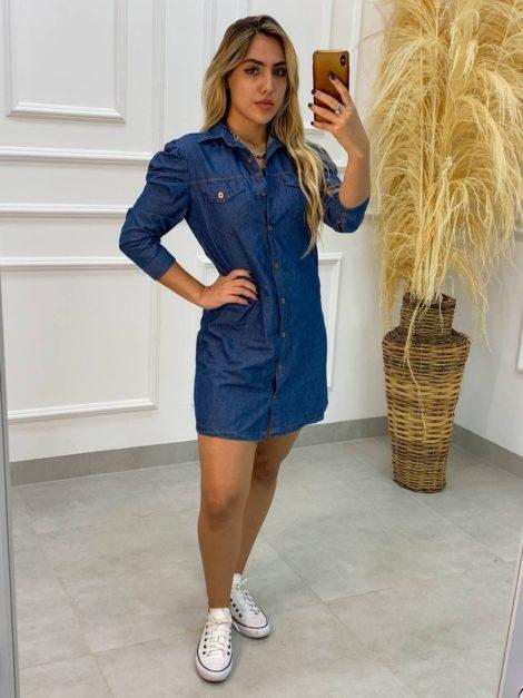 semigualmodas_com_br vestido jeans manga princesa 1