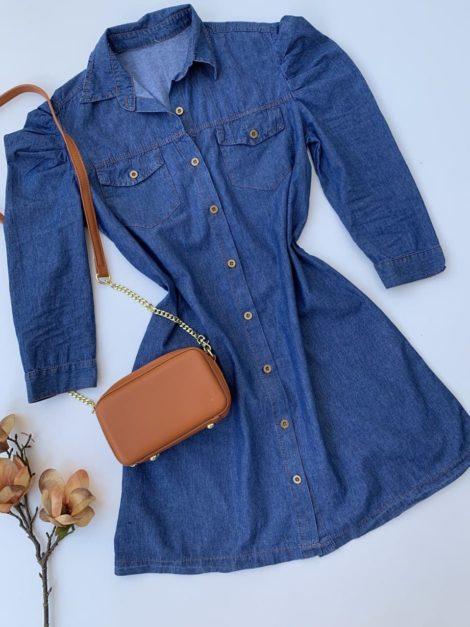 semigualmodas_com_br vestido jeans manga princesa
