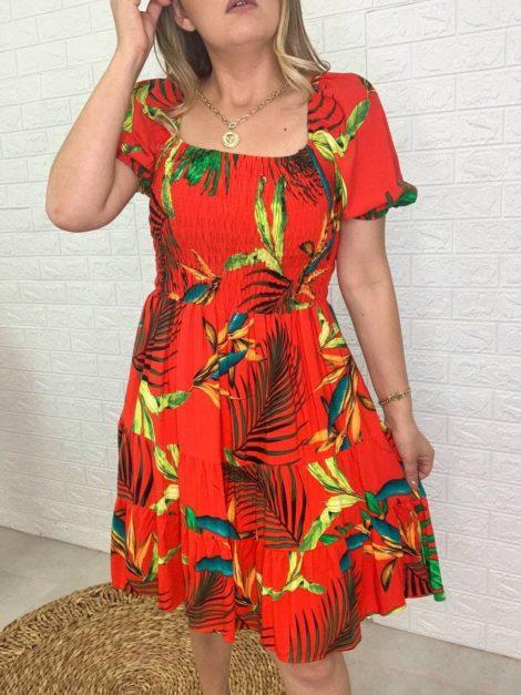 semigualmodas_com_br vestido lastex vermelho