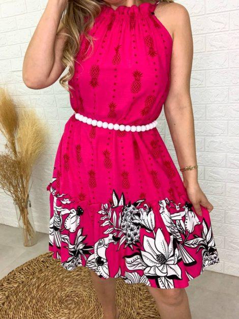 semigualmodas_com_br vestido tropical rosa