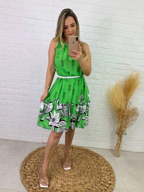 semigualmodas_com_br vestido tropical verde